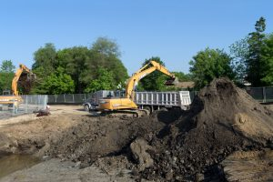 Photo of a Brownfield Soil Remediation